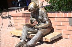 The Out to Lunch sculpture by J. Seward Johnson welcomes visitors to the Sunnvyale Public Library, California.