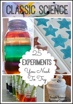 25 Classic Science Experiments For Kids Saturday Science Blog Hop & Linky Party All The Best Experiments And Activities You Want To Try 25 classic science experiments is just that! Everyone's simple favorites for year round science. No childhood is complete without trying a few of these at home or at school. They are all …