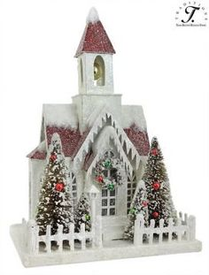 Vintage Putz Christmas Church | Property of Traditions 2019