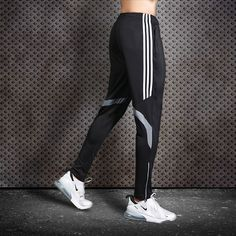 Men Running Pants Soccer Training Pants With Zipper Pocket Football Trousers Jogging Fitness Pants Workout Sport Pants - gray, M - & Soccer Pants, Sport Pants, Men Pants, Workout Wear, Workout Pants, Sport Shirt Design, Fitness Pants, Gym Fitness, Running Pants