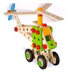 Bouw een vliegtuig, een motorfiets, locomotief of een helikopter met deze 120-delige Heros Constructor-set voor gevorderden. Vanaf 5 jaar.