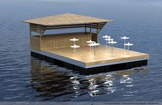 Floating Pontoon, Floating Dock, Floating Restaurant, Floating Hotel, Floating Picnic Table, Floating Architecture, Shanty Boat, Camping Water, Boat Lift