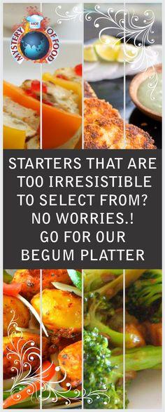 Begum Platter-A combination of paneer tikka, broccoli, tandoori aloo, dahi ke sholay and banarsi seekh..try out you will love it #MOF #food #foodies #ghaziabad #indirapuram