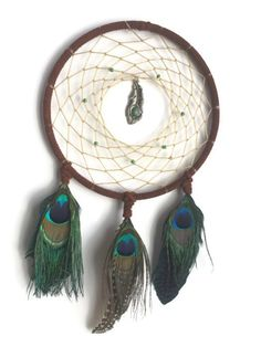 Peacock Feather Dreamcatcher by TheTwistedWhim on Etsy