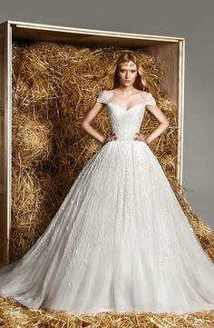 Sweetheart Princess/Ball Gown Wedding Dress  with Natural Waist in Beaded Embroidery. Bridal Gown Style Number:33077025