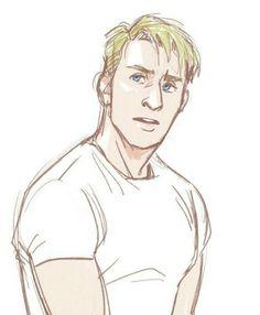 Steve Marvel Fan Art, Marvel Avengers, Marvel Comics, Cool Art Drawings, Cartoon Drawings, Manga, Avengers Drawings, Capitan America Chris Evans, Avengers Imagines