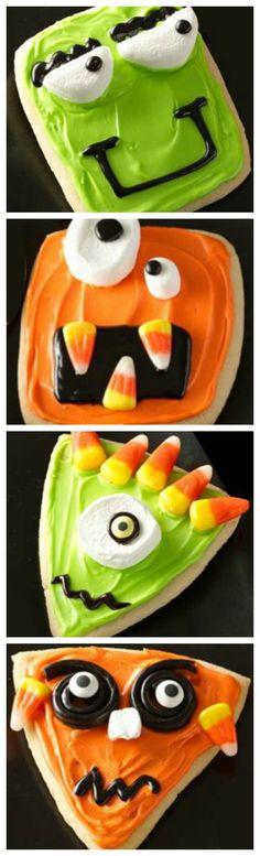 Wacky Monster Cookies ~ Fun and easy using Pillsbury™ refrigerated sugar…