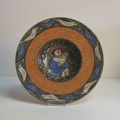 Ceramic bowl. Karlsruher Majolika. Eva Lindner 1973.