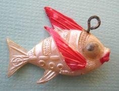 40's Vintage Celluloid Fish Charm Cracker Jack Toy Prize Googly Eyes | eBay