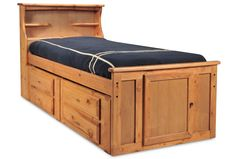 Laguna Twin Bed Bookcase/4-Drawers