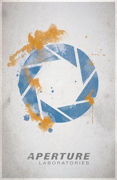 Portal Poster Aperture Science Video Game Poster by WestGraphics Video Game Posters, Video Game Art, Portal Art, Portal Logo, Aperture Science, Propaganda Art, Science Videos, Nerd Geek, Geek Art