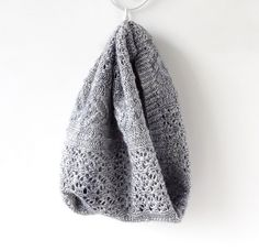 Fuerte pattern by Gretha Oceaan | malabrigo Silky in Cape Code Gray
