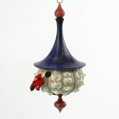 Sea Urchin Birdhouse Ornament  Cindy Drozda