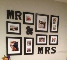 mr and mrs wall idea | Mr & Mrs wall | Master Bedroom Ideas... this would be cute