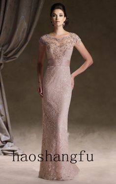 Elegant Short Sleeve Sheath Lace  Bridesmaid Dress  Party Dress 6 8 10 12+++ $179.99. I loveeeeeeee