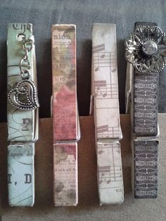 altered clothes pins. Clothes Pegs, Clothes Crafts, Wood Crafts, Paper Crafts, Diy Crafts, Decorated Clothes Pins, Close Pin, Clothespin Magnets, Altering Clothes