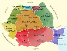 Elegant Romania Map