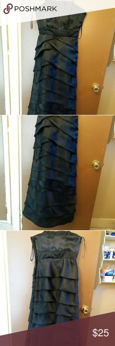 "NWT Max and Cleo Formal Dress, Black,  Gorgeous!!! This is a stunningly beautiful black formal dress by Max and Cleo.  It is sleeveless taffeta  Empire waist  Maxi length just above the feet.  Side zipper and clasp and closure  Size 4 48.5"" from very top to bottom hem. Max & Cleo Dresses"