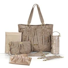 Timi and Leslie Dawn Convertible Diaper Bag in Taupe