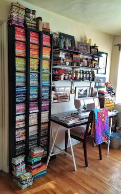Organized sewing space.
