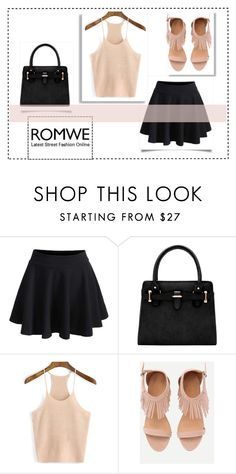 """Romwe"" by emilymangels04 ❤ liked on Polyvore featuring peach"