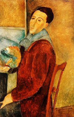 Amedeo Modigliani - Self portrait by Amedeo Modigliani