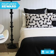 Thread Design Natural & Black Duvet & Pillowcases - Queen #flybuysnz #2080points #OFHNZ
