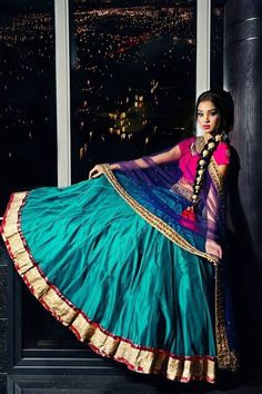 Simple Lehenga Choli Designs With Price In India 2017 with all the latest designer collection Pictures so try to wear these Simple Lehenga Choli Designs and look stunning then ever. India Fashion, Ethnic Fashion, Asian Fashion, Indian Attire, Indian Ethnic Wear, Ethnic Style, Indian Girls, Indian Dresses, Indian Outfits