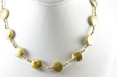 Biwa Pearl Necklace(gold biwa & 14k gold beads ) [ba_necklace201 ...