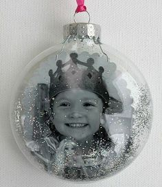 Photo Christmas ornaments~love these for grandparents! by erica