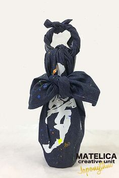 "Japonythm---""ko・to・da・ma"" neo furoshiki (wrapping cloth)denim 90c ""夢"""
