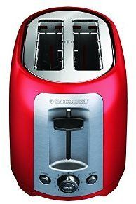 BLACKDECKER TR1278RM 2-Slice Toaster Red: Red Toasters: Kitchen & Dining