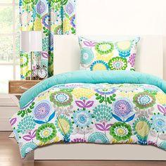 AuBergewohnlich Crayola® Pointillist Pansy Reversible Comforter Set