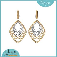 #GlamByNathella #Featured #Trendy #Classy #Beautiful - that's how we define the earrings from go glam. This 18k #Glam #Stud in Silver & Gold color are a perfect wear on casual outfits. Visit #GlamByNathella outlets today and check out the latest collection this season.