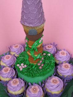 Repunzel Tower cake I made for a beautiful little girl for her birthday.