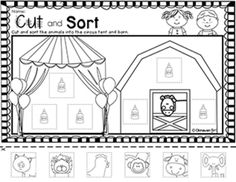 Free - PRESCHOOL MORNING WORK {FREE SAMPLE - CIRCUS THEME} - TeachersPayTeachers.com