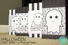 Hacer bolsas para caramelos de Halloween