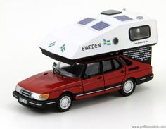 Griffin Models - Saab 900 with Toppola camper - Dreamtrip. Replica of a famous Saab 900 Toppola which managed to run 90000 km for a great Dreamtrip (see the map). unpainted and not assembled super detailed resin kit in scale 1/43. | eBay!
