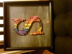 Crayon monogram - letter S
