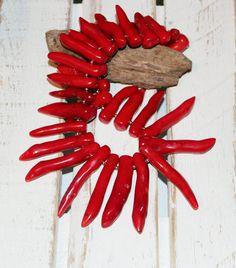 Korallenkette, Korallenäste, glutrot, feuerrot von beads and more auf DaWanda.com