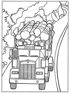 coloring page trucks trucks on kids n funcouk on