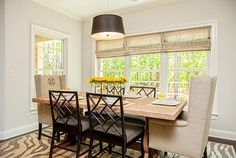 Designer Builders - Aiken SC - Nandina - traditional dining, wing back head chairs, bamboo side chairs, zebra rug