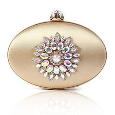 Damara Womens Vintage Floral Crystal Ellipse Large Evening Bag  Evening Bags Product Features     Ellipse box evening bag with satin covered   Soft satin fabric with sparkling rhinestones   Entry: Push Snap.1 large enough interior pocket   Clutch or crossbody bag use with a detachable chain   Bag dimensions: length 22cm (8.6 inches); ..  http://www.bestwomenbag.com/damara-womens-vintage-floral-crystal-ellipse-large-evening-bag/