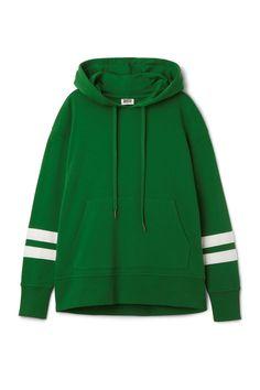 Weekday image 1 of Lynn Hoodie Stripe in Green Dark