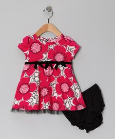 Take a look at this Pink Flower Dress & Diaper Cover - Infant & Toddler by Absorba on #zulily today!