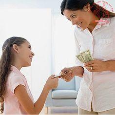 dạy con giá trị tiền bạc