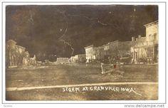 RP; Lightening Storm over Main Street (dirt), CRANVILLE , Iowa, PU-1909