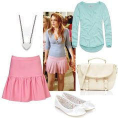 A fashion look from February 2013 featuring Abercrombie & Fitch tops, Topshop mini skirts and Accessorize flats. Browse and shop related looks. Mean Girls Halloween Costumes, Mean Girls Costume, Girl Costumes, Halloween 2016, Costume Ideas, Mean Girls Dance, Mean Girls Outfits, Cute Fashion, Girl Fashion
