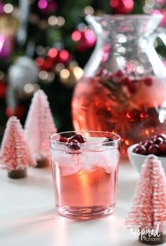 Jingle Juice Holiday Punch | 1 bottle (750ml) Whipped Vodka 1 bottle Pink Champagne or Sparkling Rosé 1 2-liter bottle Cherry 7-up Cranberries for garnish, optional