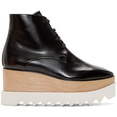 c191a9bd3293 Stella McCartney Black Platform Elyse Boots (19.177.065 VND) ❤ liked on  Polyvore